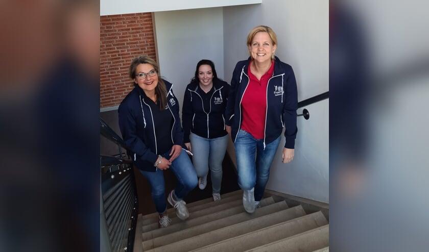 Van links naar rechts, Eveline de Smidt, Anniek de Korte en Véronique Dickhoff.