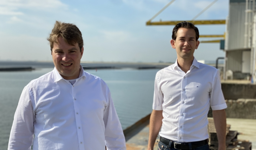 De bedrijven van Johan Lacor (l) en Jan Prins gaan samen verder.