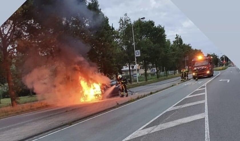 De brandweer had de vlammen snel onder controle.