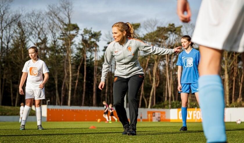 Bondscoach van het Nederlands vrouwenteam Sarina Wiegman.