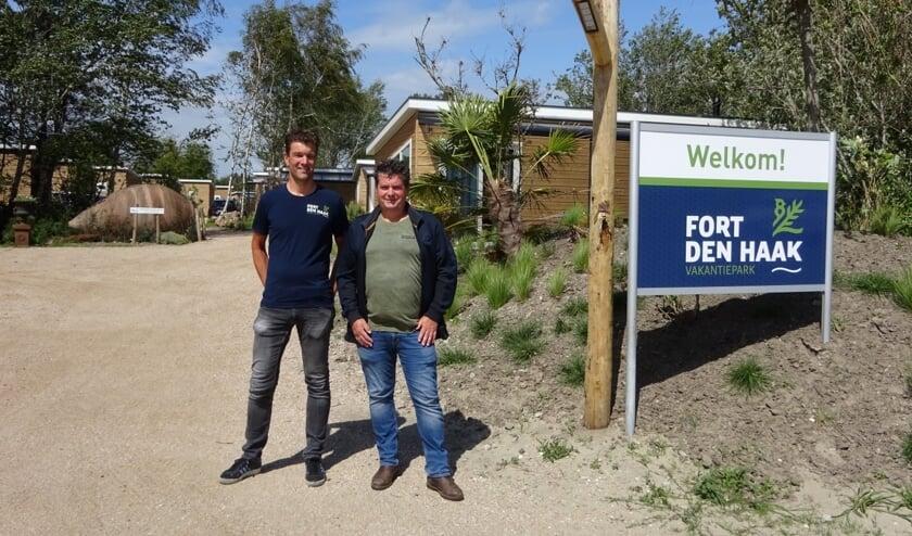 Marcel Koole en John Kodde van Vakantiepark Fort den Haak.