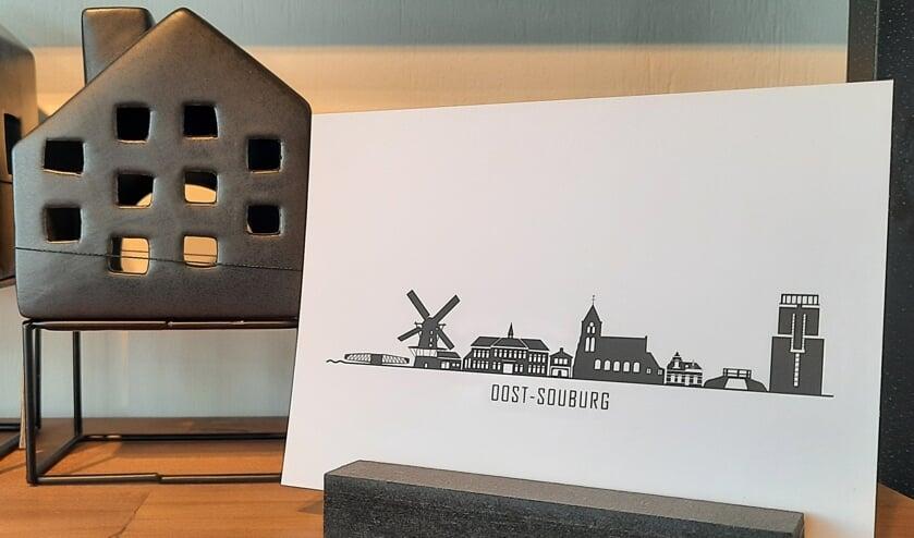 De skyline van Souburg is onder meer verkrijgbaar op wenskaarten.
