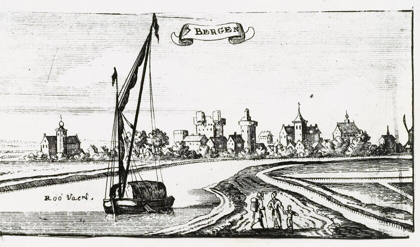 Zevenbergen gezien vanaf Fort Noordam rond 1650.