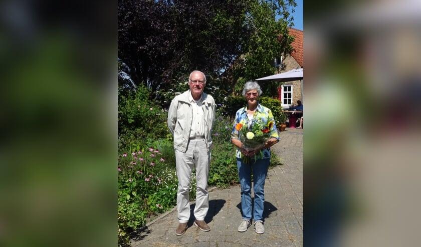 Lenie met echtgenoot Jan Biemans