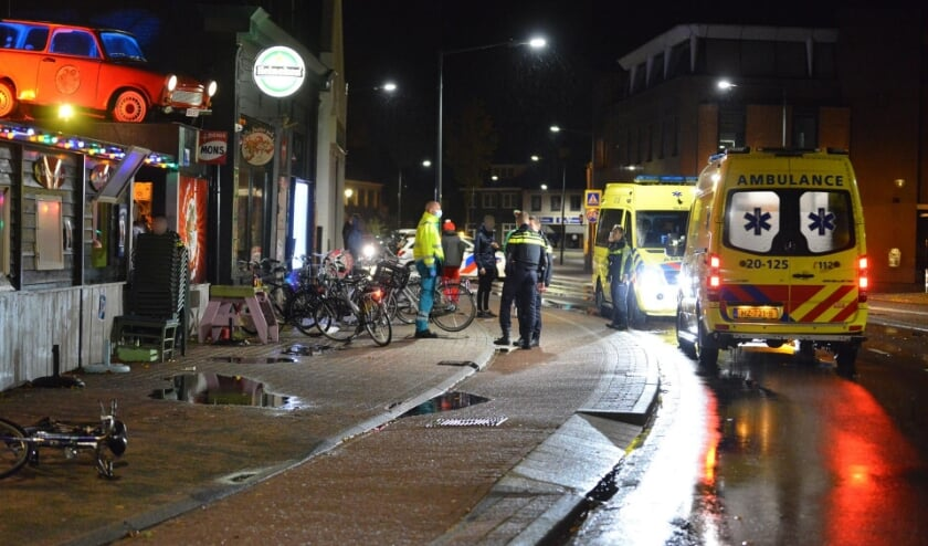 De politie en ambulance kwamen ter plaatse.