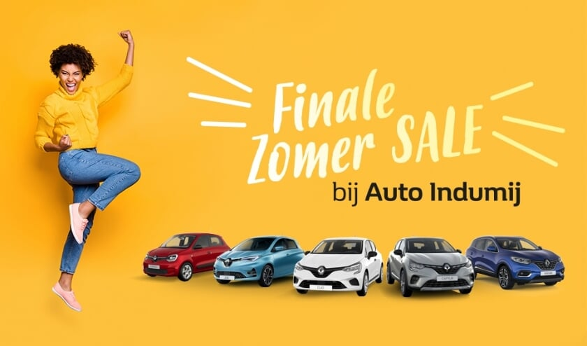 Finale Zomer Sale bij Auto Indumij.