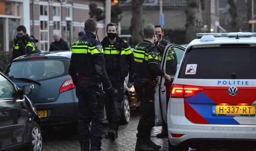Veel politie kwam ter plaatse.
