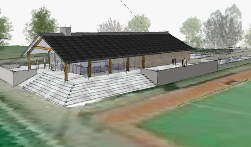 <p>Zo moet het nieuwe clubhuis van Hockeyclub Prinsenbeek eruit komen te zien&nbsp;</p>