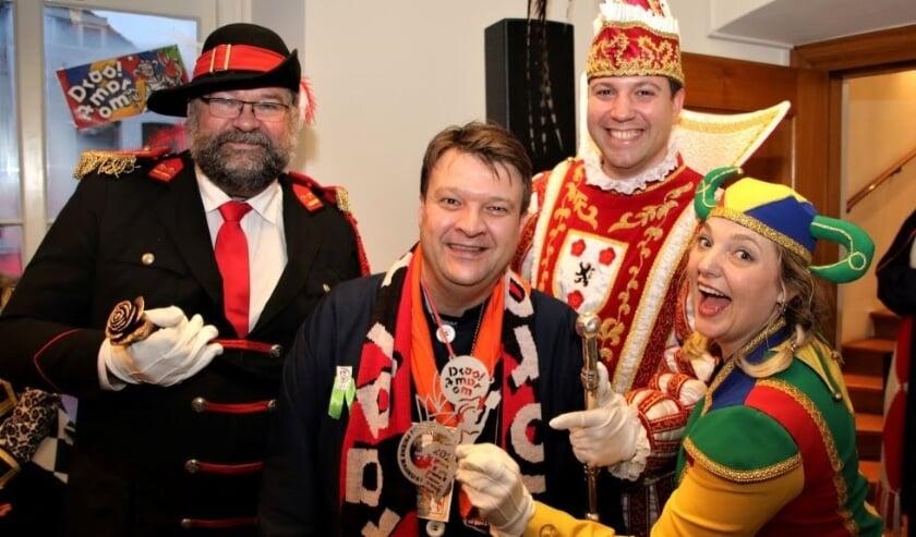 Priens, Nar en Sjampetter samen met burgemeester Han van Midden