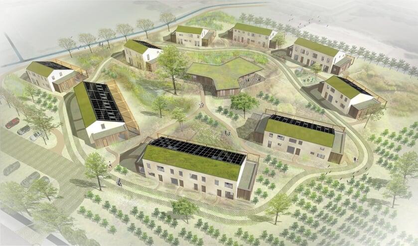 <p>Een ontwerp van het wijkje De Woongaard in Serooskerke.</p>