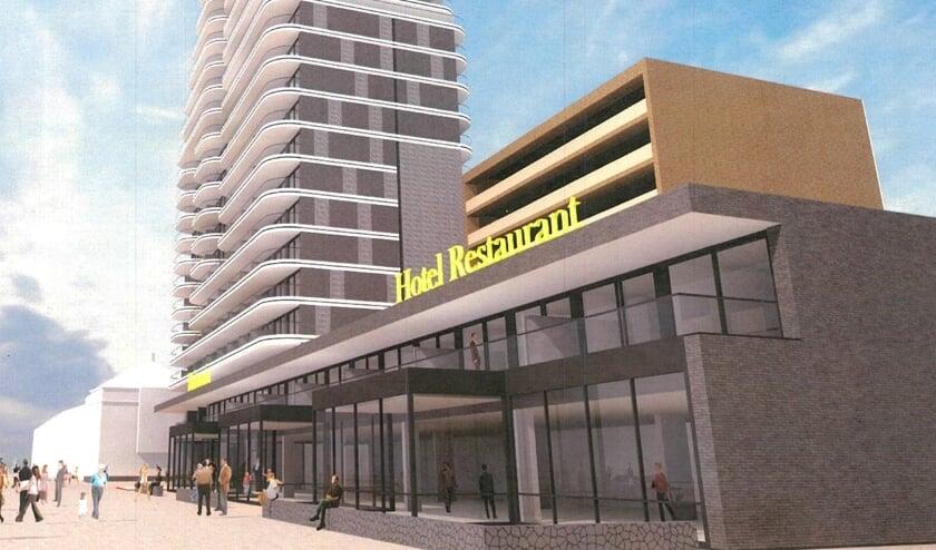 Een beeld van de plannen voor hotel restaurant Britannia.