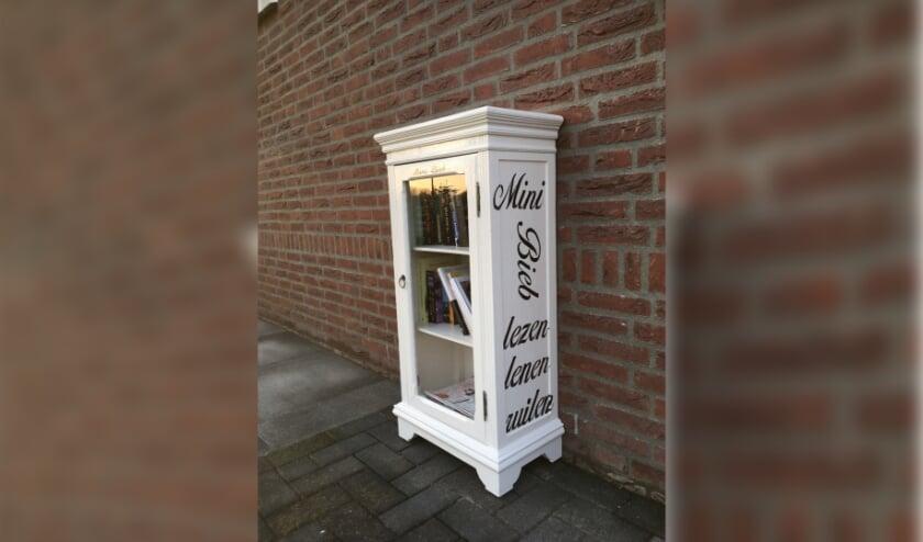 <p>Minibieb - boekenkastje.</p>