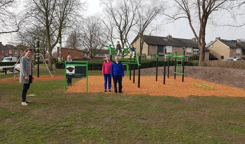 Het nieuwe calisthenics-park in Ossendrecht.