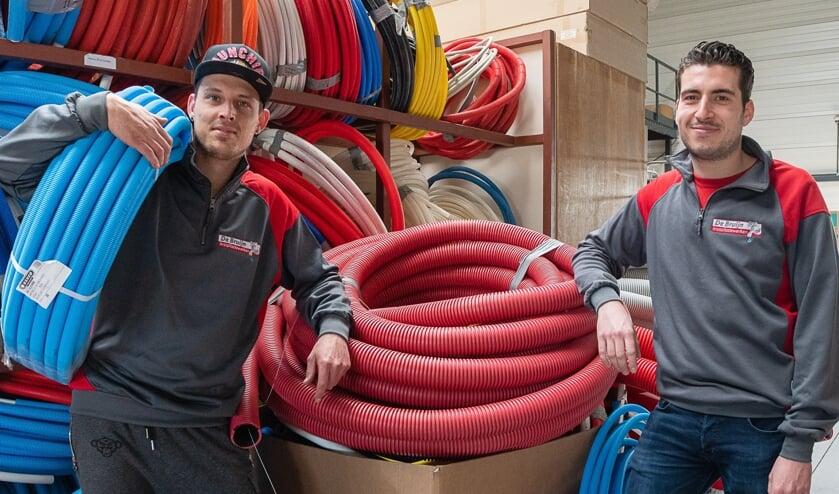 <p>Danny Boot en Vito Lampis houden van de afwisseling in hun werk.</p>