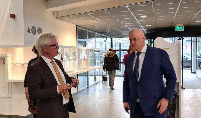 Minister Grapperhaus bij ontvangst.