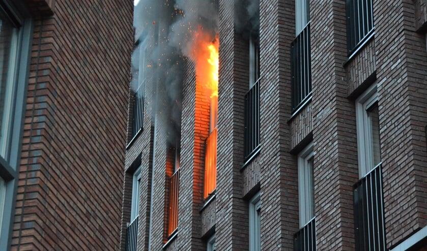 Het appartement van Jurgen brandde volledig uit.