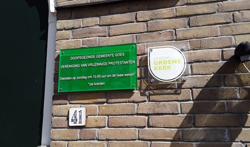 <p>Op 8 april is bordje groene kerk bevestigd.</p>